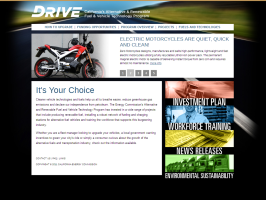 DRIVE website image including electric motorcycle